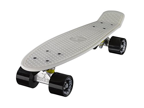Ridge Skateboards Glow in the Dark Mini Cruiser Board Skateboard, komplett, 55cm