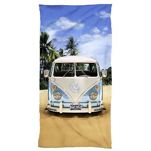 Original badetuch vw bulli 75cm x 150cm–nuovo & in confezione originale–100% cotone volkswagen vw bus t1esclusivo modello 001blu–spiaggia lenzuolo in velourq ualitaet