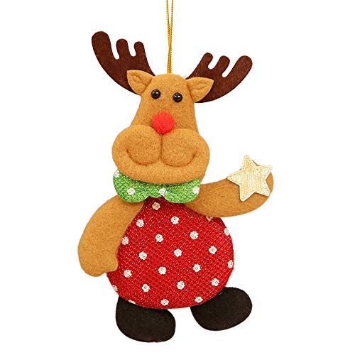 Mitlfuny✈✈✈Weihnachtsschmuck Geschenk Weihnachtsmann Schneemann Baum Spielzeug Cartoon Puppe -