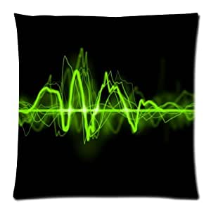 Funny Musical Notes Records Art - Music Custom Zippered Coussin/Taie d'oreiller 18x18 (Twin sides)