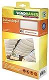 Windhager Tenda Vela Parasole per tendicorda, Protezione Solare, pergola o Giardino d'inverno, 270 x 140 cm, Bianco, 10874