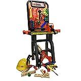 Werkbank Kinder Spielzeug Kinderwerkbank mit Zubehör Workshop Akkuschrauber