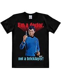 Star Trek McCoy T-Shirt Doctor Not Bricklayer Cotton Black