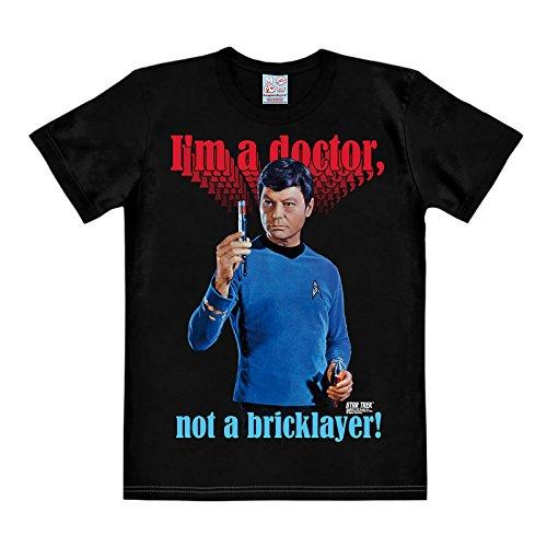 (Star Trek McCoy T-Shirt Doctor Not Bricklayer Baumwolle schwarz - XS)