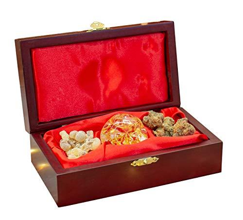 Three Kings Gifts Tres Reyes Regalos Dorado Olíbano y Mirra Standard Single Box Set, 63/4por...