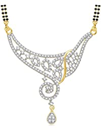 Meenaz Oxidized Silver Mangalsutra For Women Gold-MS774