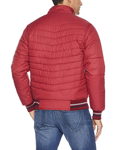 Qube by Fort Collins Men's Bomber Jacket (1220_L_Maroon)
