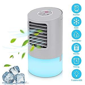 Aire Acondicionado Portátil Refrigeracion Mini Enfriador De Aire Silencioso Climatizador Evaporativo Ventilador…
