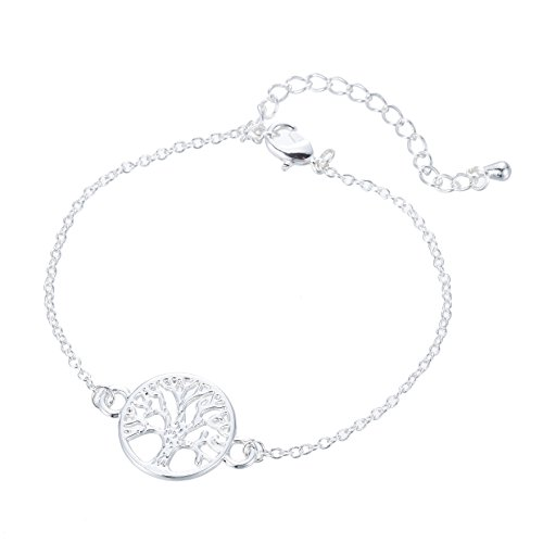 Good.designs braccialetti tree of life, pendente tree of life in oro o argento (argento)