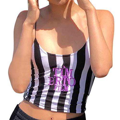 QingJiu Damen Drucken Ärmellos Mode Top Oansatz Sling Weste Brief Shirt Bluse Frauen Tops Hemd Sweatshirt Oberteil Wams -