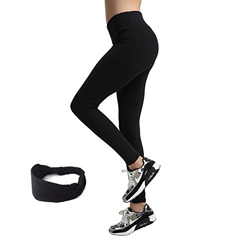 Damen lang Leggings Yoga Sport Training Fitness Jogginghosen (S Schwarz) (Wasser Skinny 12)