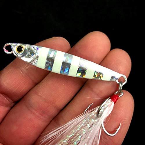 DACCU Mini Metal Jig 15g 5.5CM Sea Bass Fishing Bait Lead Fishing Lure Fish Tackle Metal Jigging Spoon Hard Lead Fish Lure 1PC,E1 (Savage Bass Gear)