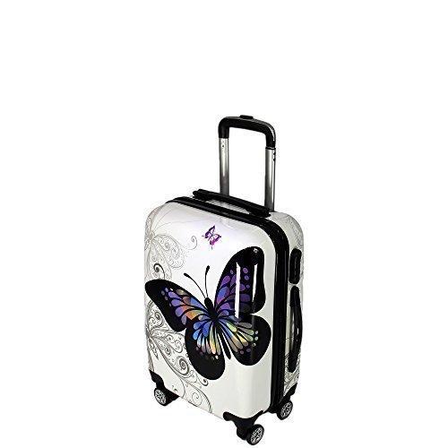 Koffer Butterfly Hartschalenkoffer Reisekoffer Handgepaeck Groesse M 20