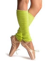 Neon Yellow Dance/Ballet Leg or Arm Warmers - Leg Warmers - Amarillo Calentadores moda Talla unica (37 cm)