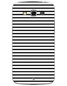 Samsung Galaxy Grand 2 G7106 Cases & Covers - Black Stripes Case by myPhoneMate - Designer Printed Hard Matte Case - Protects from Scratch and Bumps & Drops.