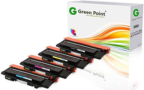 Greenpoint 4 Toner Kompatibel für Samsung Xpress C430W C480W FW FN Farblaserdrucker CLT-P404C/ELS - Schwarz und Color (C, Y, M) -