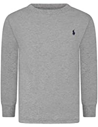 37e342211 Ralph Lauren Boys Polo Long Sleeve Cotton Tee Storm Grey (Age 7