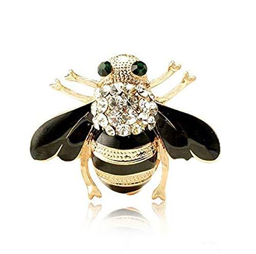 3,5 * 3 cm Biene Kristall Brosche Funkelnde Vintage Insekt Metall Kleidung Abzeichen
