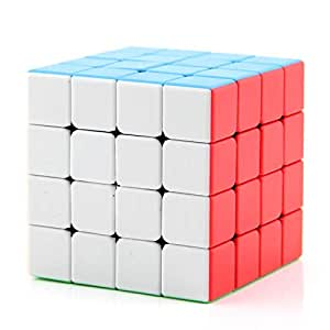 Ajmeri The Amazing Smart [IQ Tester] Sticker Less 4x4 Magic Cube - Anti Stress for Anti-Anxiety Adults Kids - Best High Speed Puzzle Toy Turns Quicker and More Precisely (4 x 4)