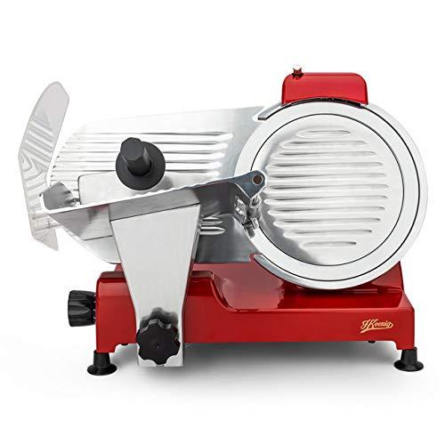 H.Koenig MSX254 professioneller Allesschneider für Schinken und Fleisch / elektrische Schneidemaschine Käse und Brot / Schnittdicke 0 - 12 mm / Schneideblatt 250 mm / Edelstahl