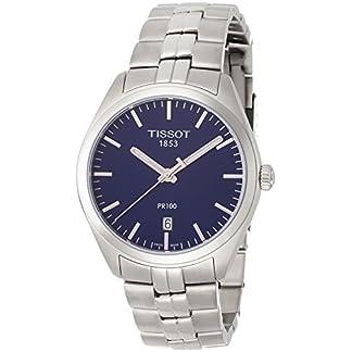 Tissot Reloj Analógico para Hombre de Cuarzo con Correa en Acero Inoxidable T1014101104100