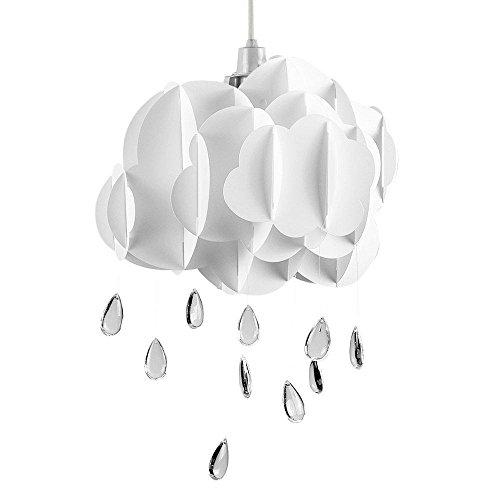 Nette Kinder Schlafzimmer / Baby Nursery Weiß Layered Regen Wolke Mit Acryl Juwel Raindrop Wasser Tröpfchen Decke Kinderbett Mobile Pendelleuchte (Auto Nebel Maschine)