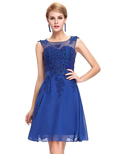 Damen Homecoming kleid Abendkleid Knielang 38 GK063-4 (Homecoming Kleider Satin)