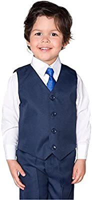 Shiny Penny, Niño Melange Azul Traje, Chaleco Para Traje Para Niño, Traje Ceremonia Niño, 3-6 meses - 8 años