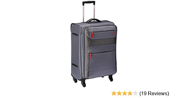 2aaec3646 American Tourister Ski Polyester 68Cms Grey/Red Soft Sided Suitcase (26R  (1) 68 002): Amazon.in: Bags, Wallets & Luggage