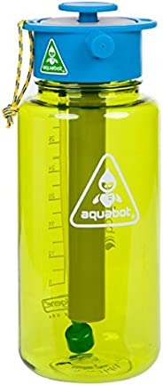 Lunatec Aquabot sport water bottle - a pressurized mister, camp shower and hydration in one. Portable running water for your