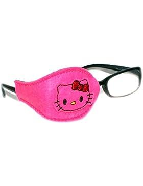 Parche de ojo ortopédico para ambliopía ojo vago, terapia de oclusión, para niños y adultos, diseño de Hello Kitty...