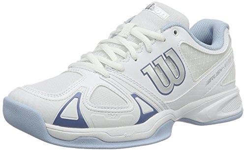 Wilson Damen Tennisschuhe Rush Evo Carpet,Weiß (White/Grau/Cashemere Blue),38 1/3 EU