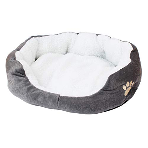mothcattl Detachable Plush Warm Pet Bed, Large/Small Pets, Make Your Pet Comfortable Every Day Grey S