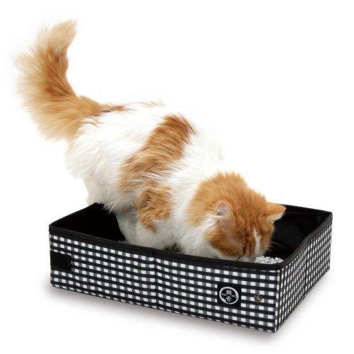 Cat1st Reise Katzenklo Mobile Katzentoilette - Schwarz