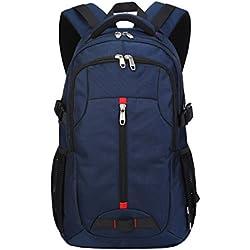ThreeH Bolsa para portátil Mochila de Estudiante de Negocios Mochila para Viajar Excursionismo PA06Blue