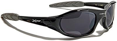 Xloop Gafas de Sol - Deporte - Mtb - Esquí - Snowboard - Moto - Running - Ciclismo - Kitesurf / Mod 2044 Negro