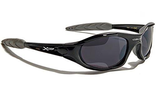 X-loop Sonnenbrille Sport - Radfahren - Skifahren - Mtb - Strand - Snowboard - Moto / 010P Schwarz Grau