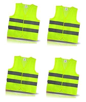 Warnweste Sicherheitsweste mit Klettverschluss in Unigröße EN 471, Gelb, waschbar