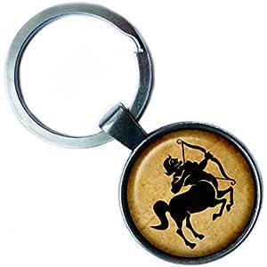 Zodiac Sagittarius Tierkreis Schütze Silver Keychain Silber Schlüsselanhänger