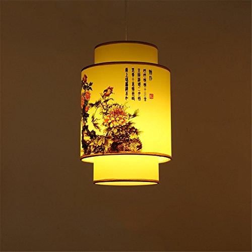 Home uk- antico cinese imitazione pergamena piccolo lampadario corridoio corridoio d'ingresso lampadari classici (colore : diameter 30cm)