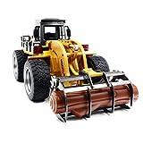 Swiftswan RC LKW Holz Grab Lader Crawler Material Handler Legierung Greifer Ingenieur Maschine 2.4G Baufahrzeug Fernbedienung Traktor Bagger mit Batterie Hobby Spielzeug für Kinder