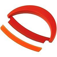 KUHN RIKON Krinkle - Cuchillo con hoja lisa, 15 cm, color rojo