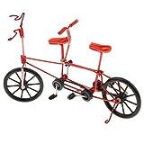 B Blesiya Fahrradmodell Fahrrad Figur Geldgeschenk Mitgebsel Finger Bike mit Tandem Fahrrad Design - rot