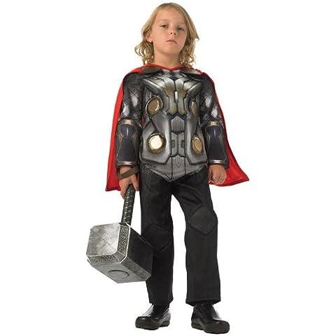 Rubbies - Disfraz de Thor para niño, talla M (116 cm) (886591M)
