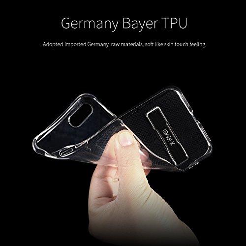 iPhone 8 Hülle,iPhone 7 Hülle, X-Level TPU Weich Handyhülle Stütze Schutzhülle für iPhone 7(2016) (Transparente+Golden) Schwarz