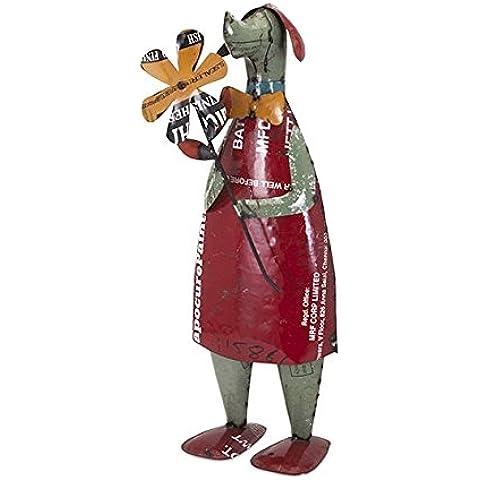 IMAX worldwide-one fonte 'Douglas il cane di recupero in metallo Statuetta da collezione, multicolore