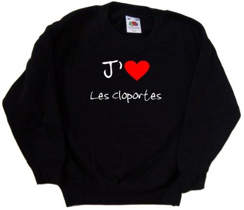 fruit-of-the-loom-sweatshirt-jaime-les-cloportes-enfant-noir-imprime-blanc-et-rouge-9-11-ans