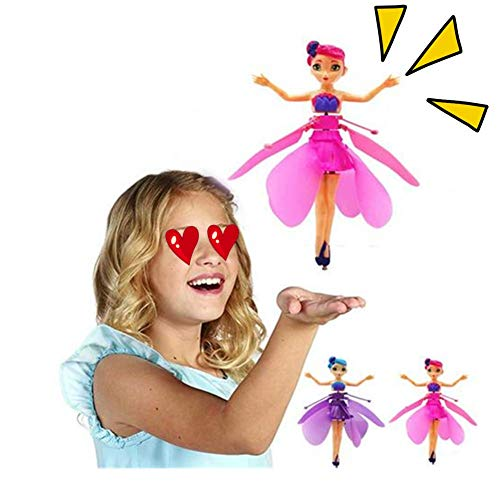 Nearthuk Muñeca mágica de Princesa voladora, niñas de 6 años de Edad, Juguete para niños, Luces de inducción por Infrarrojos y Juguetes de Control Remoto, muñeca de Hada voladora de Ballet