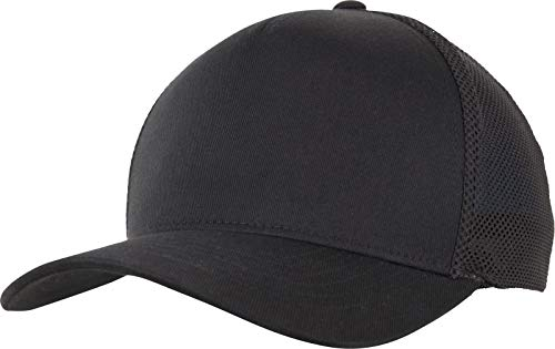 Flexfit 110 Trucker Cap, Black/Black, one Size