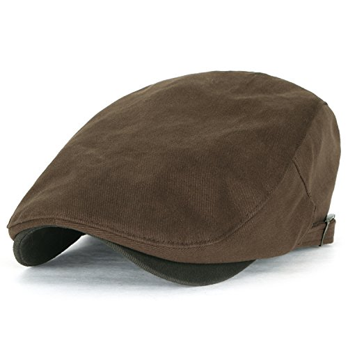 Ililily Two Tone Cotton Fitted Gatsby Newsboy Hat Cabbie Hunting Flat Cap